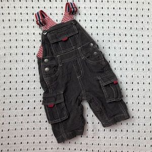 Baby Boden Gray corduroy Overalls 0-3 months